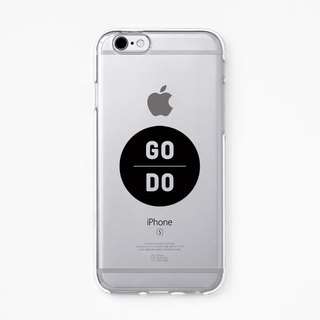 iPhone Rubber Case - GoDo for iPhones - Clear Flexible Rubber TPU case J02
