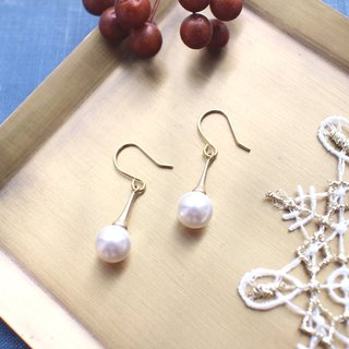 Ice cream corn-Crystal pearl earrings