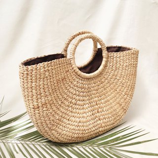 Natural Straw Picnic Handbag
