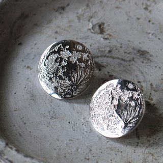 Full Moon Earrings (Silver Moon)