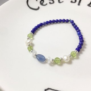 MH sterling silver natural stone independent series _ sunny rainy day _ lapis lazuli