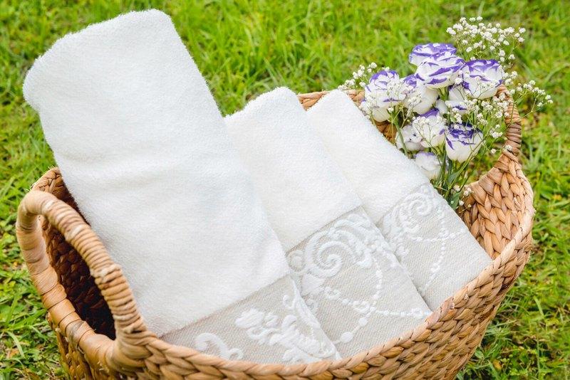 紫藤園之戀-葡萄牙製造 I 限量 I小毛巾 頭髮巾 浴巾- 毛巾三件套