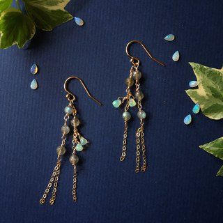 Handmade earrings aurora night
