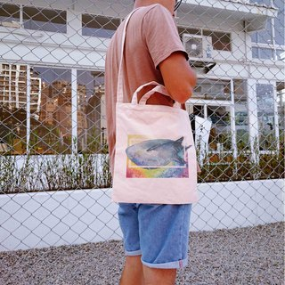 [Sam] Rainbow earth Rainbow Series whale sharks straight canvas bag