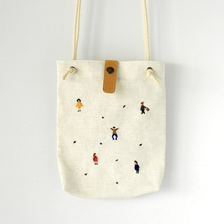 Everybody side backpack - beige