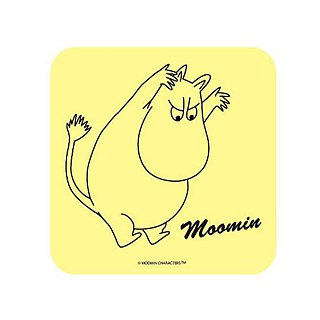 Moomin glutinous rice authorized - diatomaceous earth water coaster (white), AE01