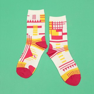 Parkhaus White Unisex Crew Socks | mens socks | womens socks | colorful fun sock