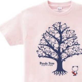 Panda · tree Single side WM - WL • S - XL T - shirt 【Custom order】