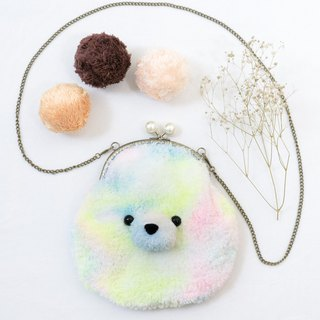 Good mood Baby Fur / mouth gold bag / side backpack / Christmas gift / exchange gifts