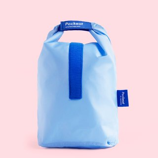 Good day | Pockeat green food bag (large food bag) - Monday blue