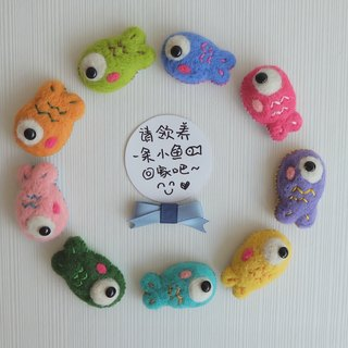 sleeping original handmade colorful fish colorful fish] [brooch / fridge magnet