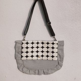 Large dot dual-use lace bag