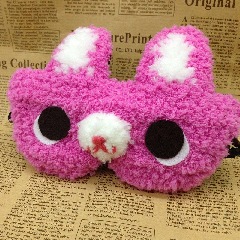棉花糖動物眼罩-小桃兔