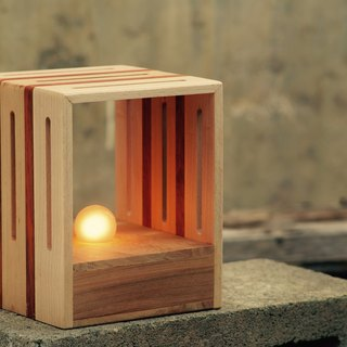 """Three and Workshop"" wood lamp"