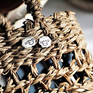 **~ Cotton-like Cloud Sheep*<A Pair> Silver Earrings~** Sheep+Pure Handmade