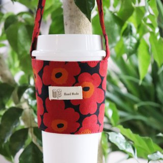 Flower drink bag (red flower)