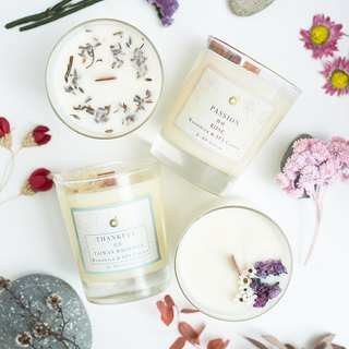 [Heart of Heart (White Magnolia)] Thankful (Taiwan Magnolia) Skin Care Scent Candles / Customized / Dried Flowers / Birthday Gifts / Graduation Gifts / Wedding Things /