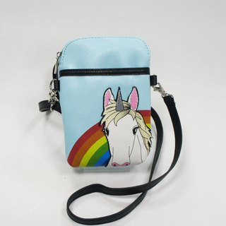 Rainbow unicorn children's mobile phone oblique backpack / portable bag / animal bag - Cool Music Village stock