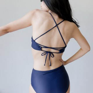 Double Crossback - Navy (Size S) / Swimwear