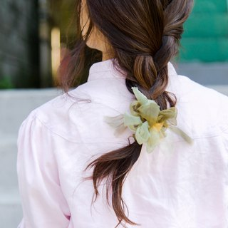 mini || Green Tea || Blooming Sakiami Colourful Hair Scrunchy || Hair Accessory
