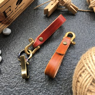 Hin window leather art - handmade leather - key ring simple models Horseshoe hand-made vegetable tanned chrome tanning