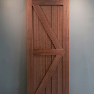 Country industrial wind barn door style (walnut solid wood veneer) _ slash door / sliding door / cabinet door / room door / custom