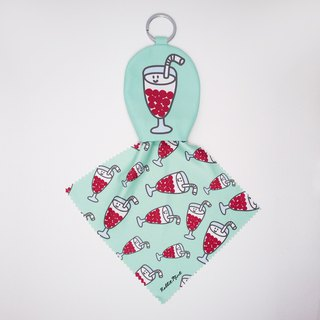 【Cha Chaan Teng Collection】-Keyring glasses cleaning cloth -(GH14)