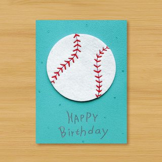 Handmade Card _ Blood Baseball Birthday Card..... Thanks Card, Valentine Card, Universal Card