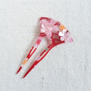 flower hairpin-red