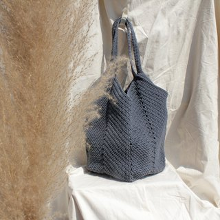 Dark Grey Crochet bag ,Tote bag ,Market bag ,Shopping bag