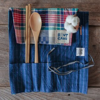 Brut Cake handmade textiles - Kofu Reel tableware group (color Plaid)
