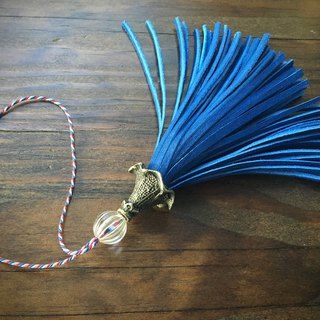 Leather tassel circus regatta blue