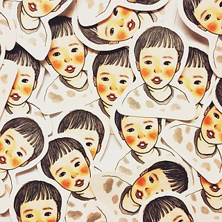 Customized portrait stickers single