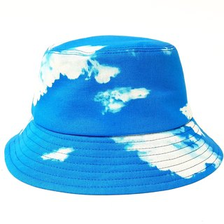 Classic fisherman hat - give you / 妳 sky (blue sky and white clouds) #日本布# Valentine's Day #礼物