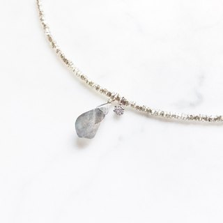 ::Silver Mine Series - Limited Edition:: Labradorite Highlights Ore Broken Silver Bracelet
