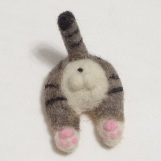 American Shorthair hip- Wool felt (Safety pin or magnet)