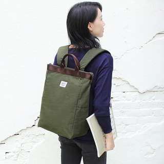 Easy to use portable backpack (14 吋 laptop OK) Army Green _100448