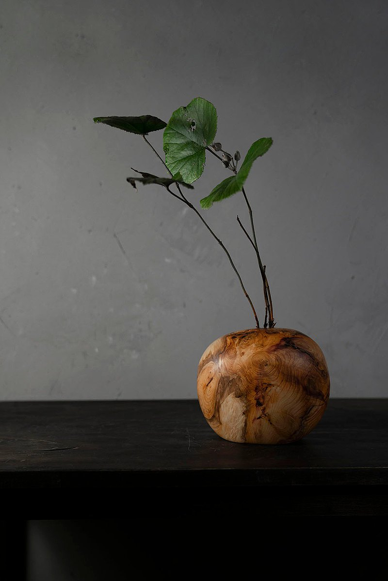 手工木製花器花瓶插花禪意擺飾038號紅豆杉