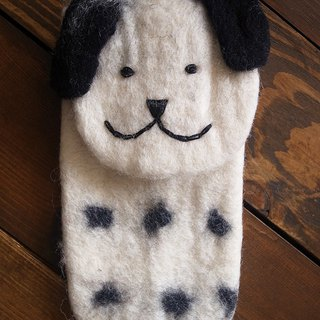 felt dog case, felt case, handmade iPhone sleeve, iPhone bag Animal