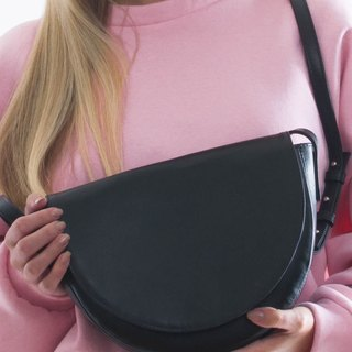 WAVE crossbody bag black leather