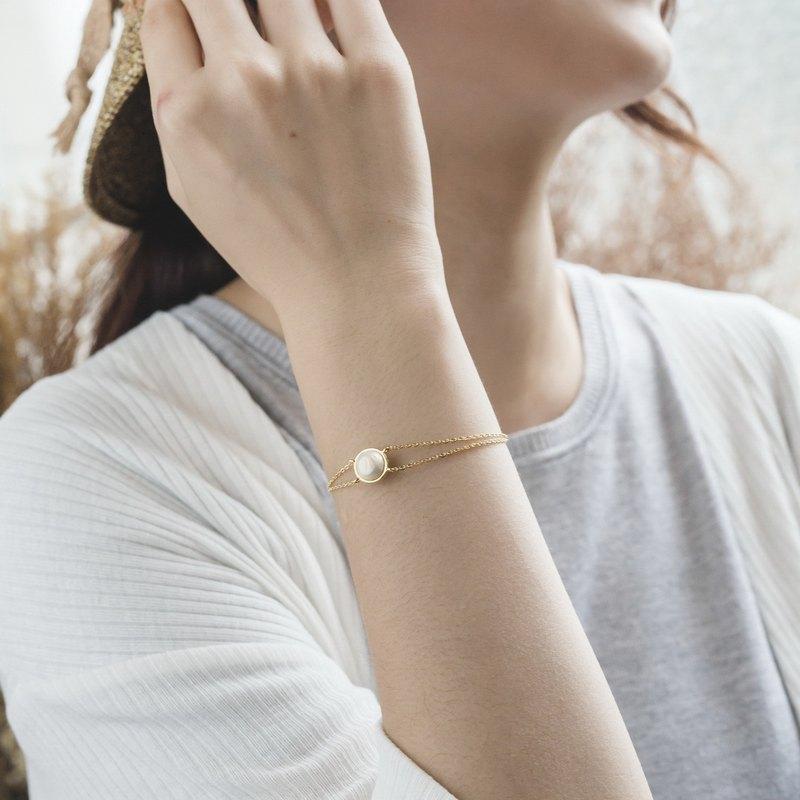 032b723a3b393 Cotton Pearl Bracelet - EndlessII Double Chain Design Bracelet