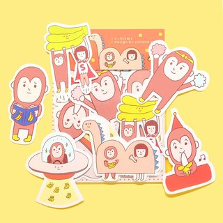 Monkey Year / Medium Sticker Set