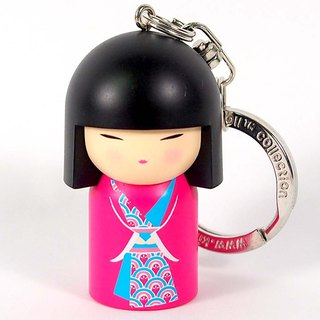 Key ring - Momoko peace [Kimmidoll and blessing doll key ring]