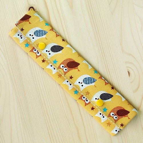 Sparkling owl chopsticks bag set of chopsticks