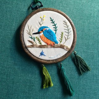 Kingfisher Hong Kong Wild Bird Embroidery Paintings