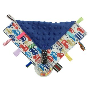 F27-handmade 2 in 1 handbell label appease towel can be used as pacifier chain Japanese double yarn X2 times = 4 layers