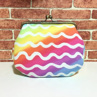 Rainbow wave meets the mouth gold bag / shoulder / side back / camera bag / cosmetic bag / sundries / large capacity