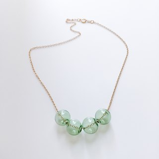 afternoon / glass bubble necklace