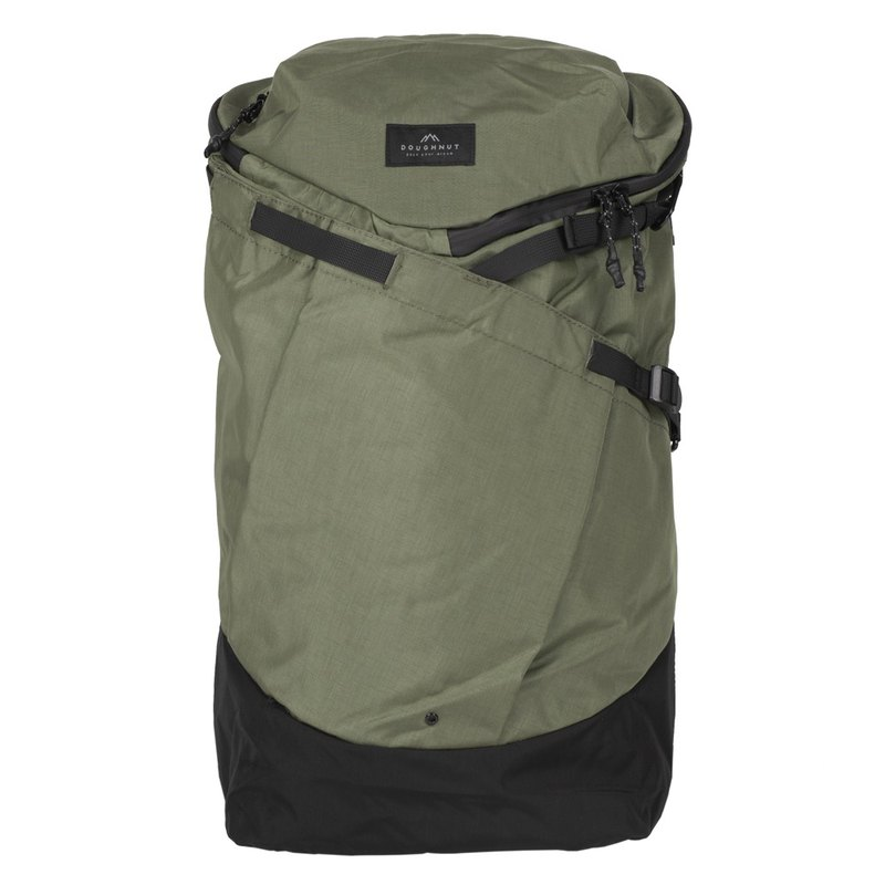 Doughnut Black Line Waterproof Jumper Backpack Plus - Stone Green Black (Limited Home)