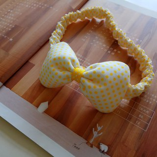 Little yellow point gift baby hair band headdress bow hair band